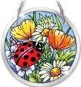 Amia 5264 Ladies In Red Beveled Small Circle Suncatcher