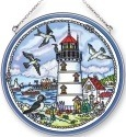 Amia 5321 Seabirds and Lighthouse Large Circle Suncatcher