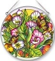 Amia 5325N Callas and Monarchs Large Circle Suncatcher
