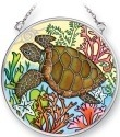 Amia 5352 Sealife Turtle Small Circle Suncatcher