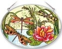 Amia 5368 Dragonflies Medium Oval Suncatcher