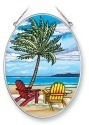 Amia 5375 Inlet Palms Medium Oval Suncatcher