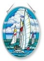 Amia 5377 Starboard Tack Medium Oval Suncatcher