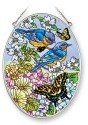 Amia 5422 Blue Skies Bluebird Medium Oval Suncatcher