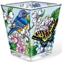 Amia 5430 Blue Skies Bluebirds Petite Votive Holder