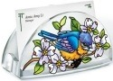 Amia 5434 Blue Skies Bluebirds Business Card Holder
