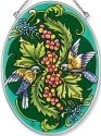 Amia 5500 Bird With Cherries Medium Oval Suncatcher