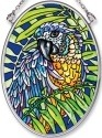 Amia 5543 Blue & Yellow Macaw Small Oval Suncatcher