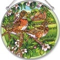 Amia 5577 Robins Large Circle Suncatcher