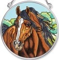 Amia 5584 Horse Small Circle Suncatcher