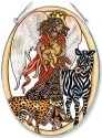 Amia 5636 African Angel Large Oval Suncatcher
