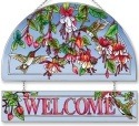 Amia 5679 Cascading Fuchsia Welcome Panel