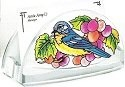 Amia 5777 Grapevine Bluebird Business Card Holder