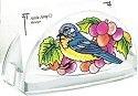 Amia 5777 Grapevine Bluebird Business Card Holder