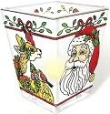 Amia 5790 Santa and Reindeer Petite Votive Holder