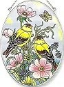 Amia 5800 Goldfinches Medium Oval Suncatcher