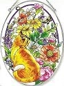 Amia 5819 Summer Garden Large Oval Suncatcher