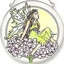 Amia 5832 Hydrangea Fairy Medium Circle Suncatcher