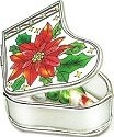 Amia 5890 Poinsettia Stocking Jewelry Box
