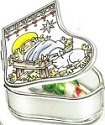 Amia 5898 Baby Jesus Manger Stocking Jewelry Box