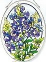 Amia 5901 Blue Bonnet Large Oval Suncatcher