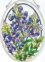 Amia 5902 Blue Bonnet Medium Oval Suncatcher