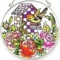 Amia 6115 Birds Welcomed Medium Circle Suncatcher