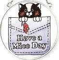 Amia 6132 Have A Mice Day Small Circle Suncatcher