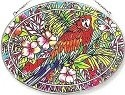 Amia 6219 Parrot Large Oval Suncatcher