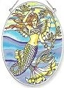 Amia 6244 Mermaid Fairy Medium Oval Suncatcher