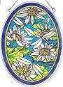 Amia 6257 Dragonflies & Waterlilies Medium Oval Suncatcher
