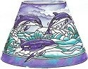 Amia 6325 Dolphins Candle Lamp - Shade Only