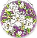 Amia 6388 Still Magnolias Large Circle Suncatcher