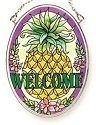 Amia 6424 Traditional Welcome Small Oval Suncatcher