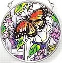 Amia 6432 Peonies & Lilacs Small Circle Suncatcher