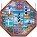 Amia 6468 Lighthouse Collage Octagon Panel