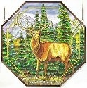 Amia 6476 Meadows Edge Elk Octagon Panel