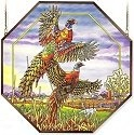 Amia 6478 Flying Pheasant Large Octagon Panel