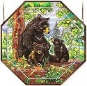 Amia 6490 Bear Family Large Octagon Panel