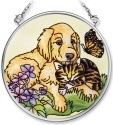 Amia 6546 Golden Spring Small Circle Suncatcher