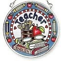 Amia 6796 Teacher Small Circle Suncatcher