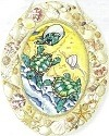 Amia 6916 Hatching Turtles Large Oval With Seashells