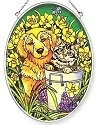 Amia 7086 Spring Friends Medium Oval Suncatcher