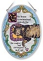 Amia 7089 This House is Maintained for Cats Medium Oval Suncatcher