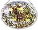Amia 7117 Northwoods Moose Large Oval Suncatcher