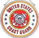 Amia 7129 Coast Guard Large Circle Suncatcher
