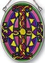 Amia 7134 Purple Jeweled Small Oval Suncatcher