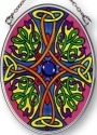 Amia 7136 Yellow Jeweled Small Oval Suncatcher