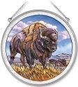 Amia 7149 Bison Standing Large Circle Suncatcher