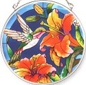Amia 7201 Hummingbird Medium Circle Suncatcher